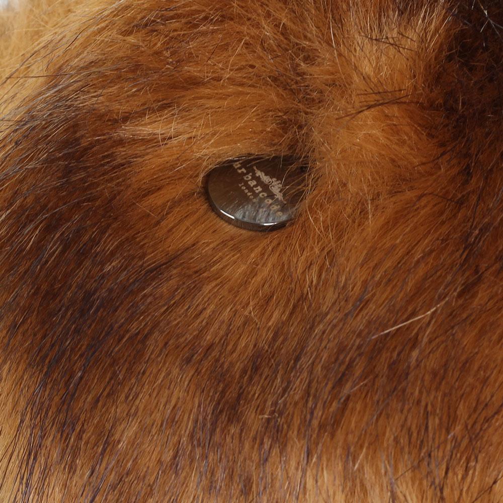 Шапка-ушанка Urbancode London из искусственного меха коричневого цвета