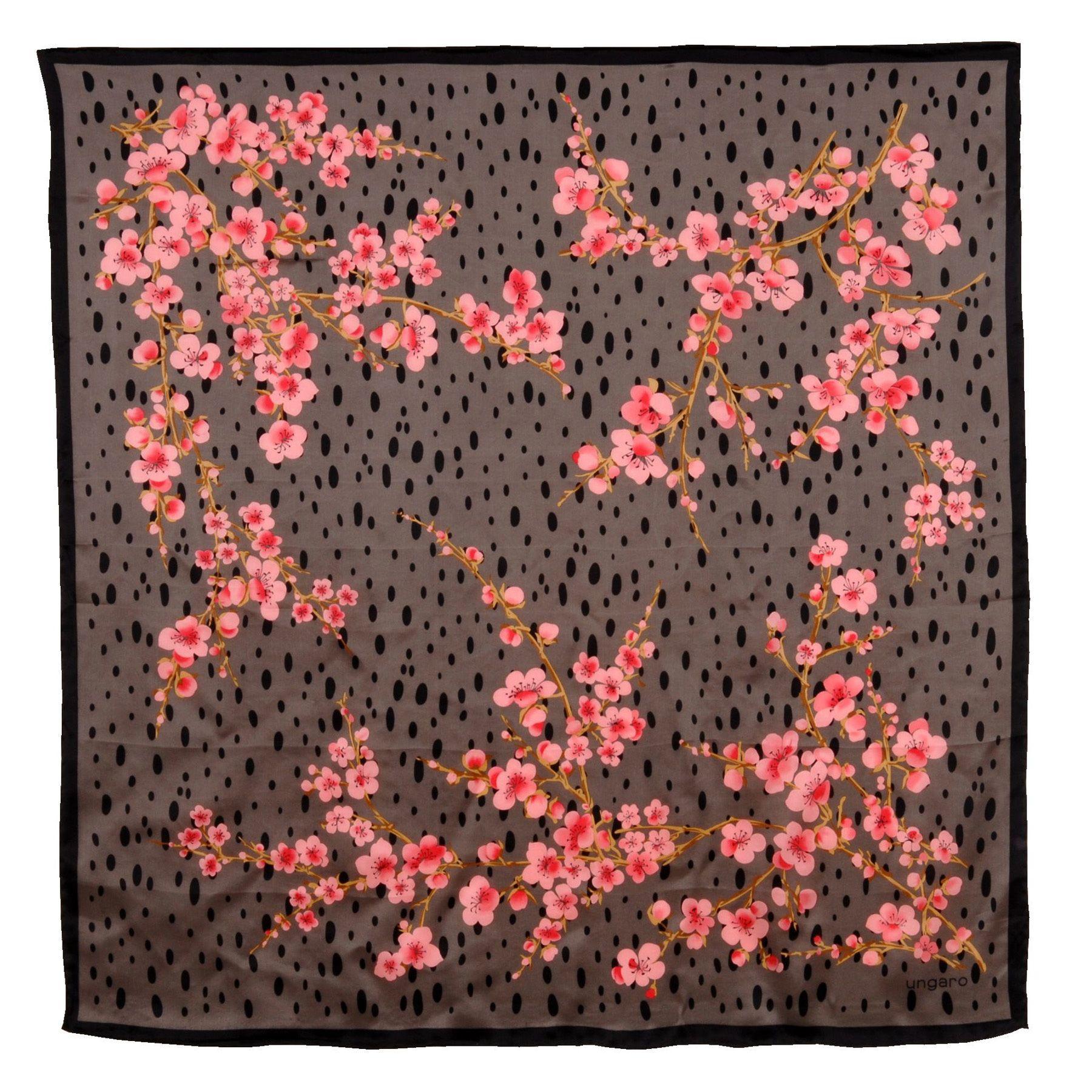 Платок Ungaro «Ciampino» шелковый с изображением сакуры