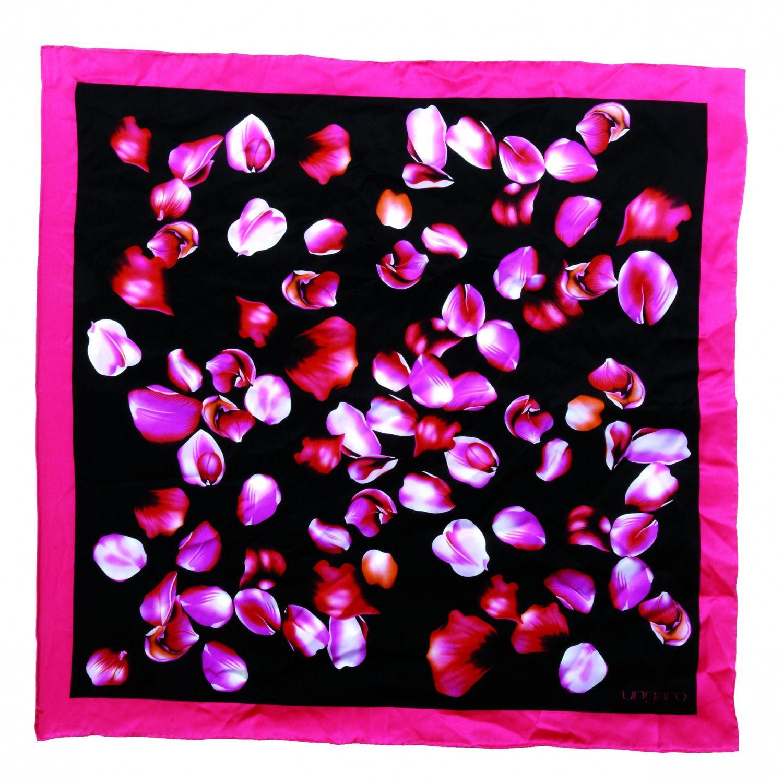 Платок Ungaro «Nuoro» шелковый с лепестками роз