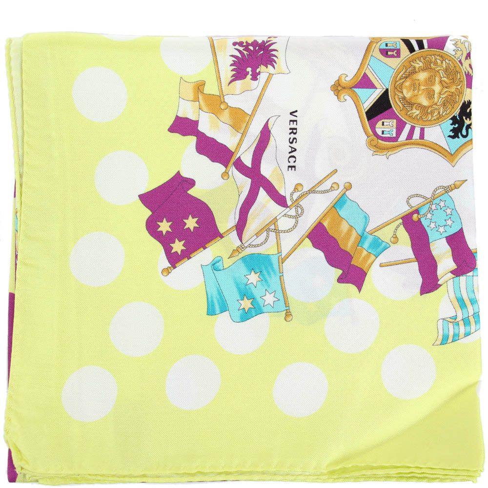 Яркий платок Versace из натурального шелка