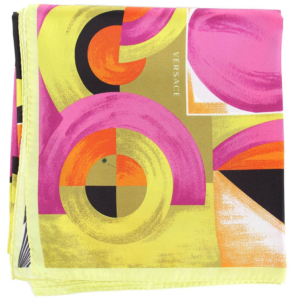 Платок Versace с абстрактным принтом ярких цветов