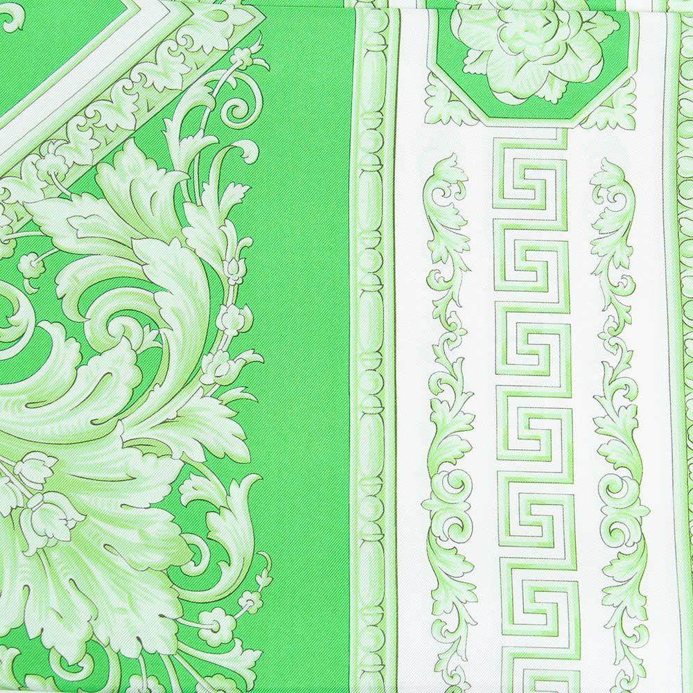 Платок Versace шелковый салатового цвета