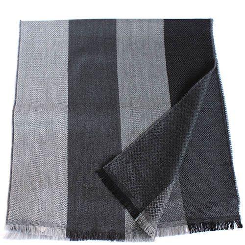 Шарф Maalbi с широкими полосами в серых тонах, фото