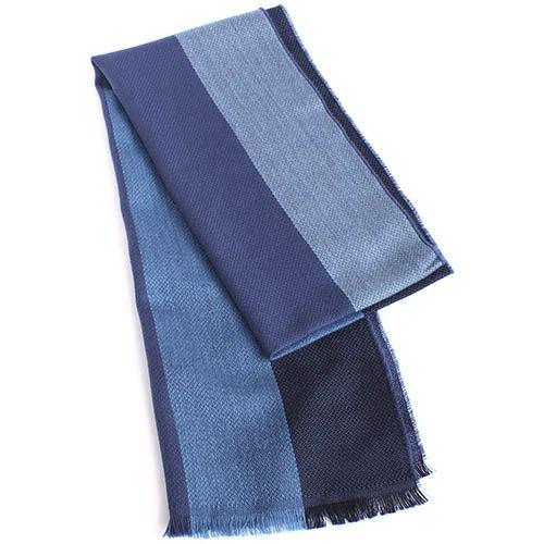 Шарф Maalbi из шерсти в синюю полоску, фото