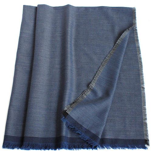 Шаль Maalbi из шерсти темно-синего цвета, фото