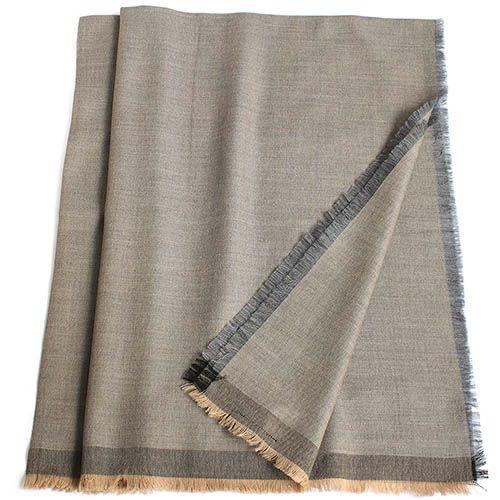 Шерстяная шаль Maalbi цвета капучино, фото