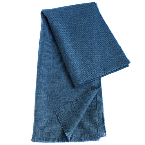 Синий однотонный палантин Maalbi из шерсти, фото