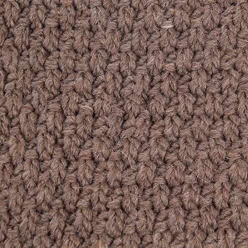 Шарф-хомут Le Camp коричневого цвета крупной вязки, фото