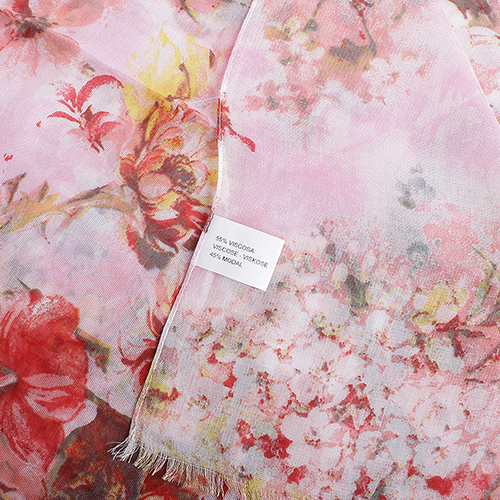 Розовый палантин Fattorseta Тропический закат, фото
