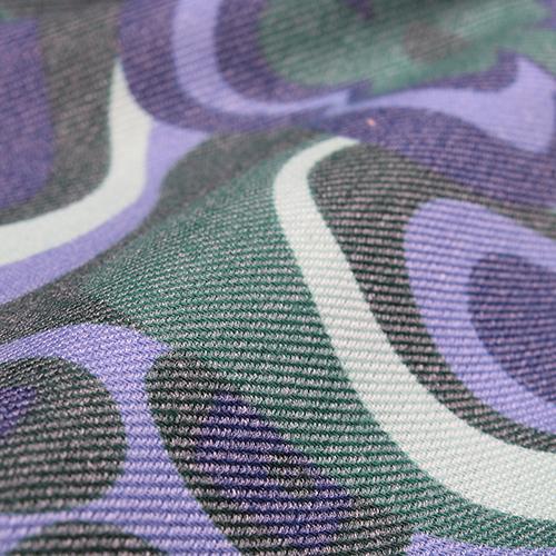 Зеленый палантин Fattorseta с цветочным принтом, фото