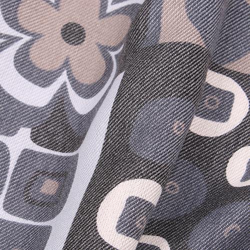 Палантин Fattorseta синего цвета с цветочным принтом, фото