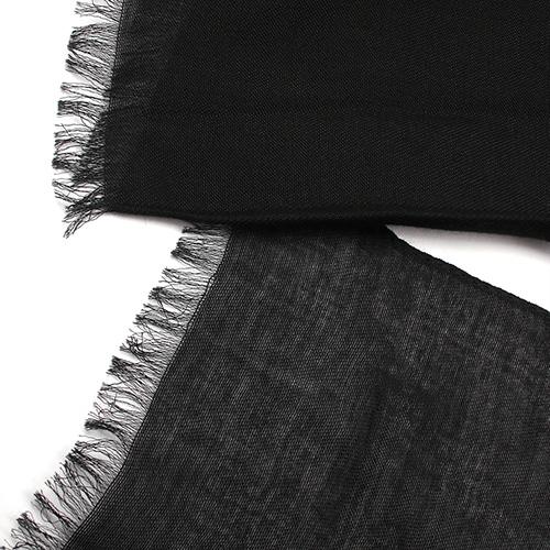 Палантин Fattorseta из черной ткани, фото