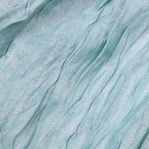Однотонный палантин Fattorseta цвета морской волны, фото