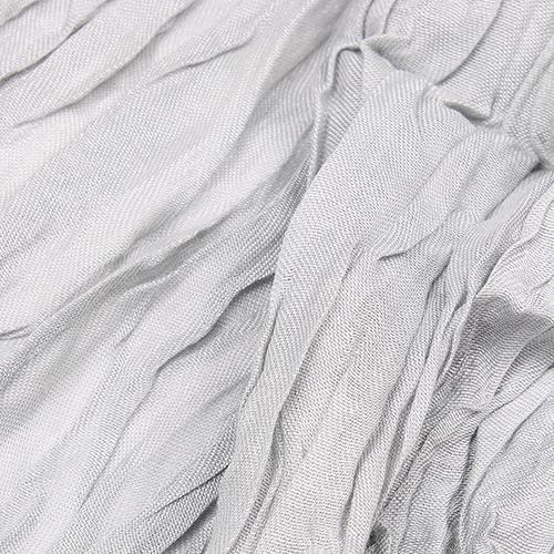 Серый палантин Fattorseta из жатой ткани, фото