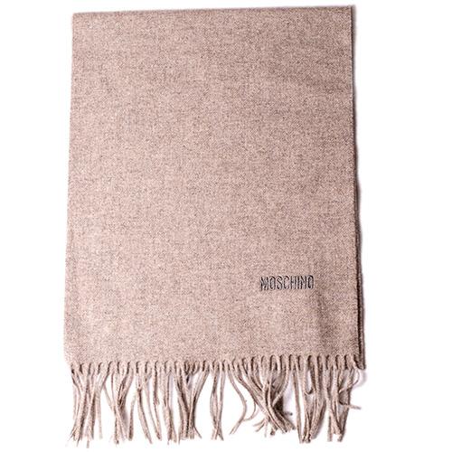Коричневый шарф Moschino из шерсти мериноса, фото