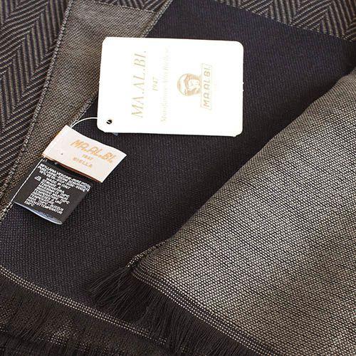 Шарф Maalbi цвета капучино с коричневой окантовкой, фото