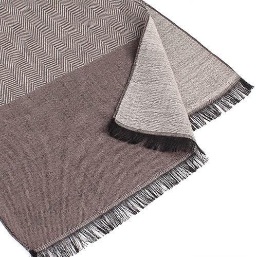 Теплый шерстяной шарф Maalbi коричневого цвета, фото