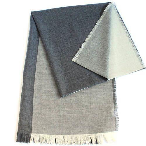Шерстяной палантин Maalbi бело-серый, фото