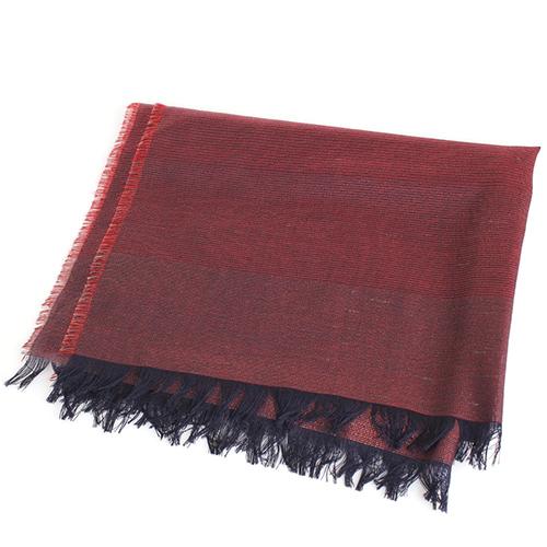 Палантин бордового цвета Maalbi в тонкую полоску, фото