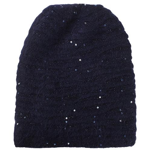 Синяя шапка Vizio Collezione с брендовым элементом, фото