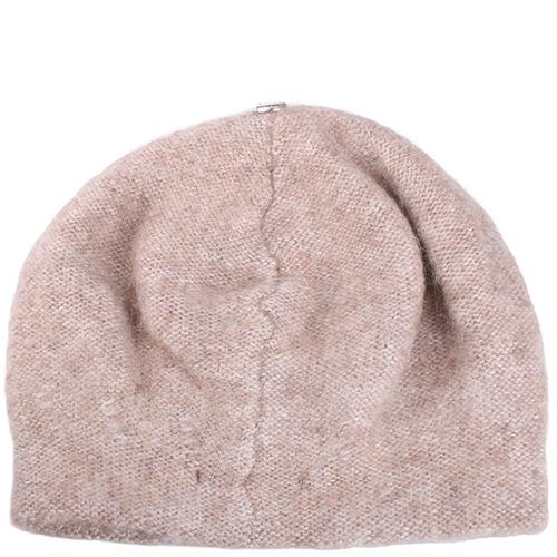 Вязаная шапка Vizio Collezione бежевого цвета, фото