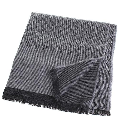 Палантин Maalbi серого цвета с абстрактным узором, фото