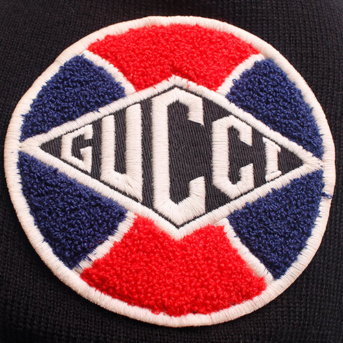 """Шапка шерстяная Gucci с нашивкой """"GUCCI"""", фото"""