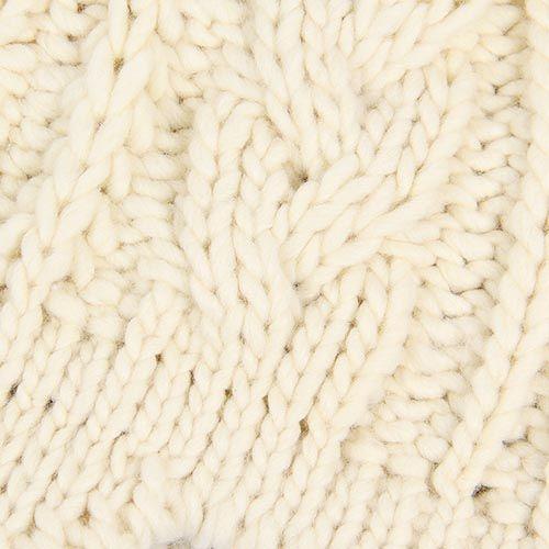 Шапка Le Camp вязаная с козырьком молочного цвета, фото