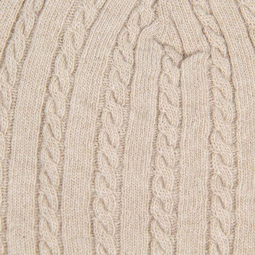 Шапка Le Camp Cashmere тонкая вязаная светло-бежевого цвета, фото
