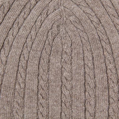 Шапка Le Camp Cashmere тонкая вязаная серовато-коричневого цвета, фото