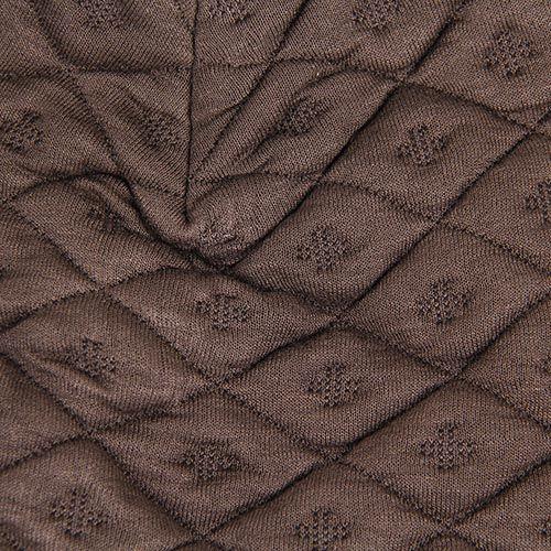 Шапка Le Camp коричневого цвета стеганная в ромбы, фото