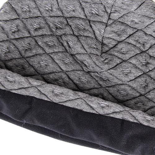 Шапка Le Camp серого цвета стеганная в ромбы, фото