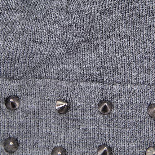 Шапка Le Camp серого цвета с металлическими шипами, фото