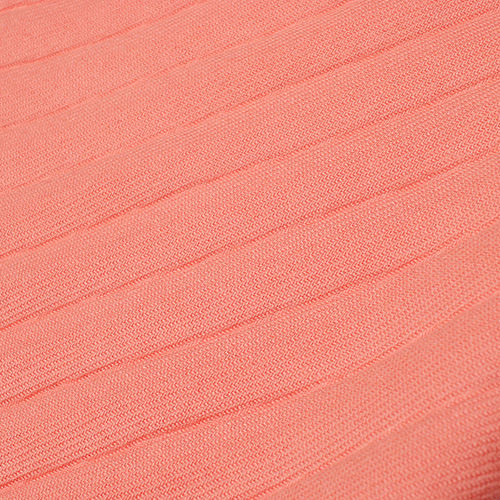 Шарф-плиссе Fattorseta лососевого цвета с бахромой, фото