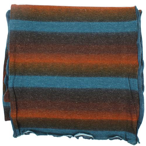 Голубой палантин Ostinelli из комбинированной ткани, фото