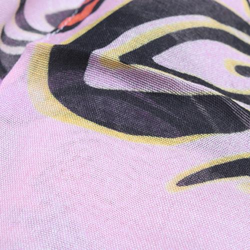 Розовый палантин Fattorseta с принтом, фото