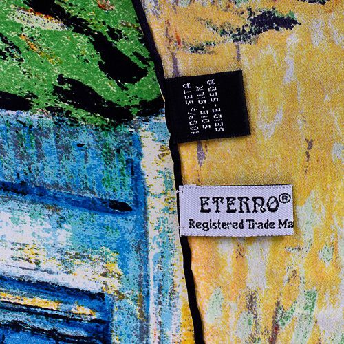 Шелковый платок Eterno с репродукцией Ван Гога Церковь в Овере, фото