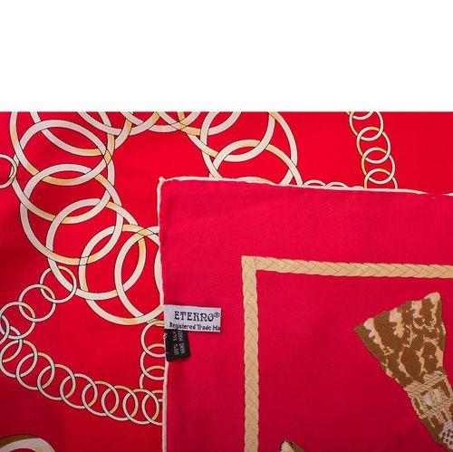 Шелковый платок Eterno красный, фото