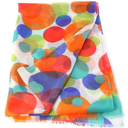 Женский шарф Fattorseta с крупным ярким горохом, фото
