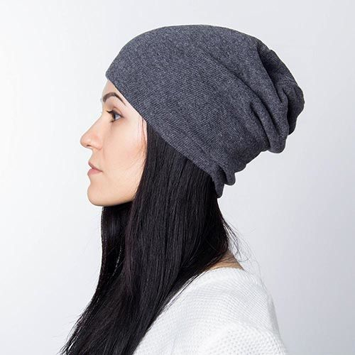 Шапка Hat You Cashmere серого цвета, фото