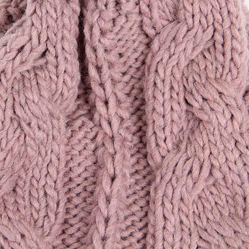 Шапка Hat You бледно-розового цвета с большим балабоном, фото