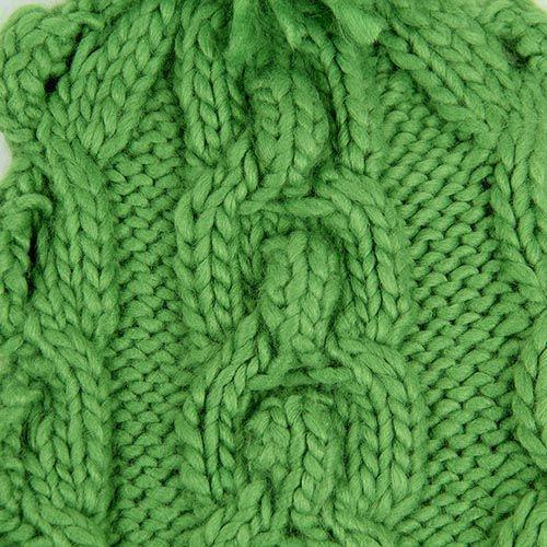Шапка Hat You зеленого цвета с балабоном, фото