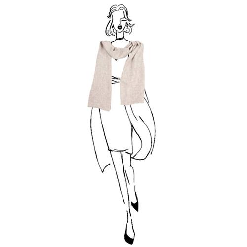 Кашемировый шарф вуальный Chadrin серый, фото