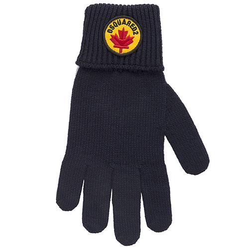 Шапка с перчатками Dsquared2 синего цвета, фото
