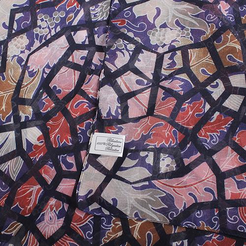 Палантин Fattorseta в цвете марсала с абстракцией, фото