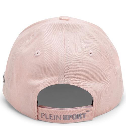 Розовая кепка Philipp Plein Plein Sport с серым козырьком, фото
