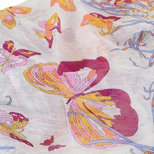 Шаль Emilio Pucci тонкая льняная с нежным принтом, фото