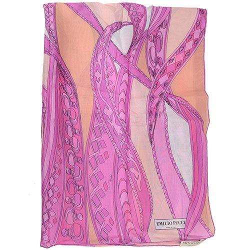 Шаль Emilio Pucci розовая тонкая приятная, фото