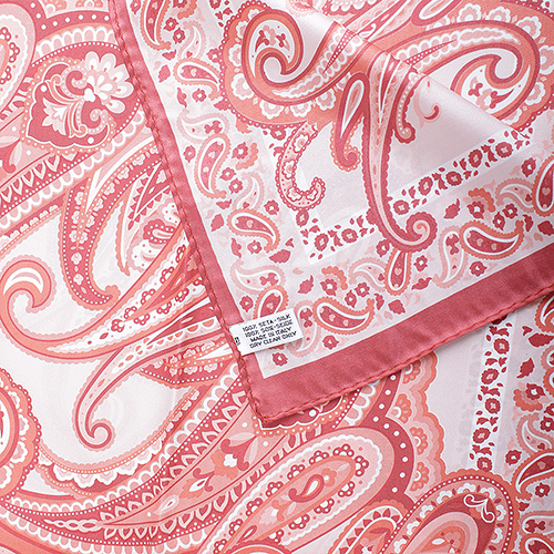 Коралловый платок Fattorseta из шелка, фото