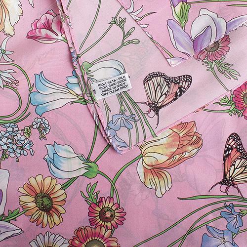 Розовый палантин Fattorseta с цветочным принтом, фото